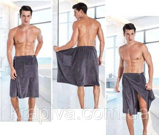 Полотенце Халат 140*70 см серый