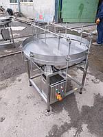Обертовий накопичувальний стіл для тари, фото 1