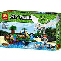 Конструктор Lele 33243 Minecraft Атака белого дракона 318 деталей, фото 1