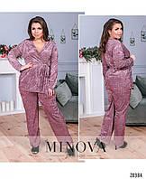 Пижамный костюм 2-ка №835-бордо