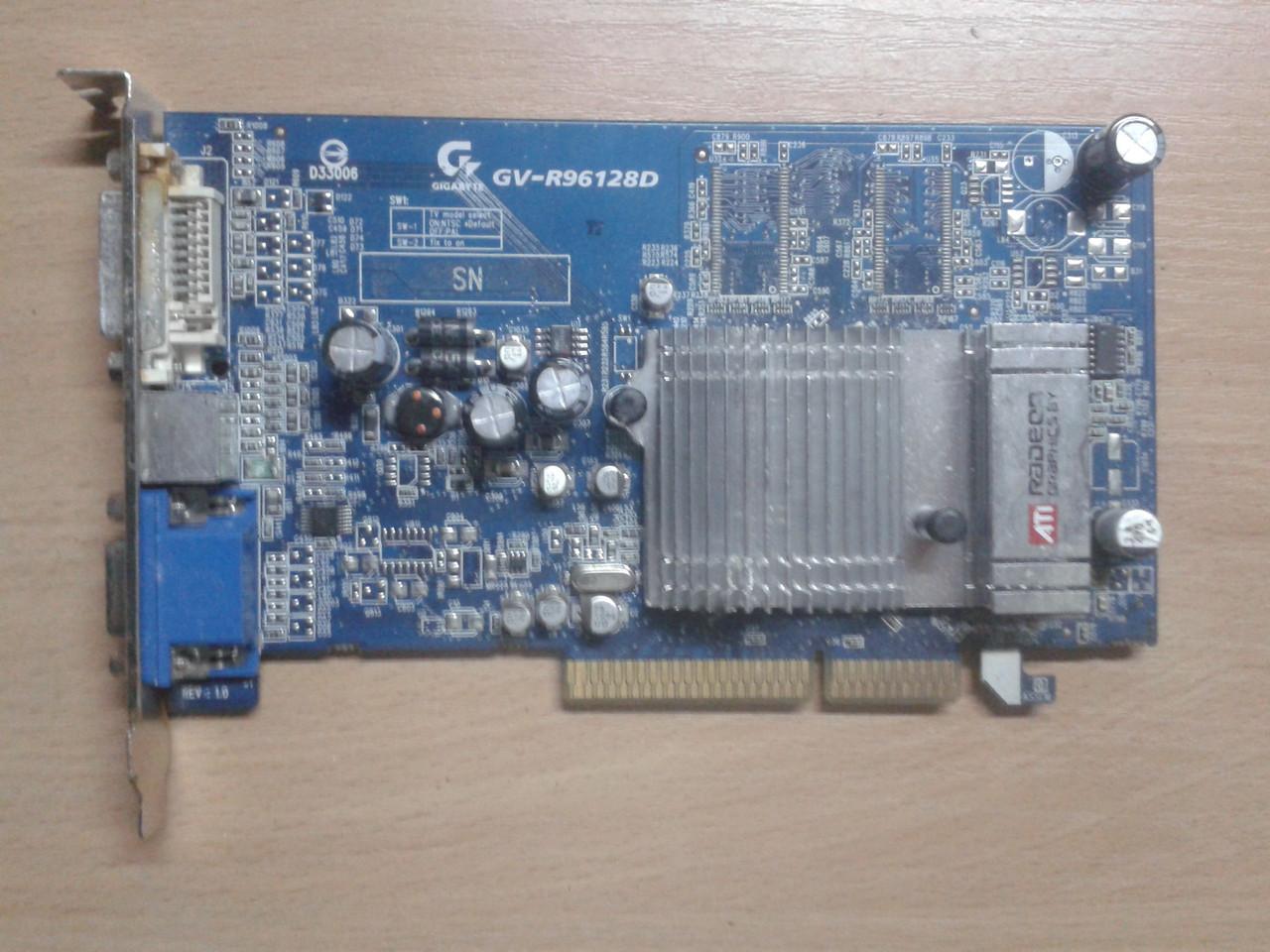 Видеокарта GigaByte ATI RADEON 9600 GV-R96128D, 128Mb/DDR/64Bit, AGP, бу