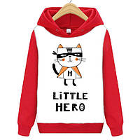 Толстовка LITTLE HERO детская красно-белая