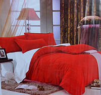 Постельное белье Евро-размер EAST COMFORT красного окраса