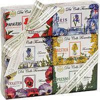 Набор мыла Nesti Dante Высоты Флоренции 150г*6шт Dei Colli Fiorentini Gift Нести Данте. Подарок маме.
