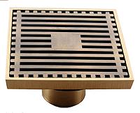 Трап для душа 100*100 мм. латунь с механическим клапаном VE 453 FS