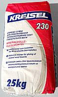 Клей Крайзель 230 для приклеивания минеральной ваты в мешках по 25 кг, фото 1