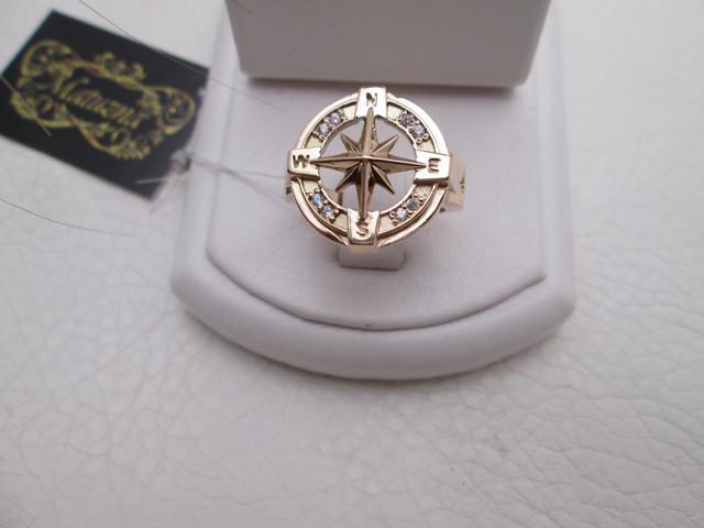 роза ветров мужское кольцо