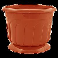 Вазон с подставкой Рина 1,6 л коричневый
