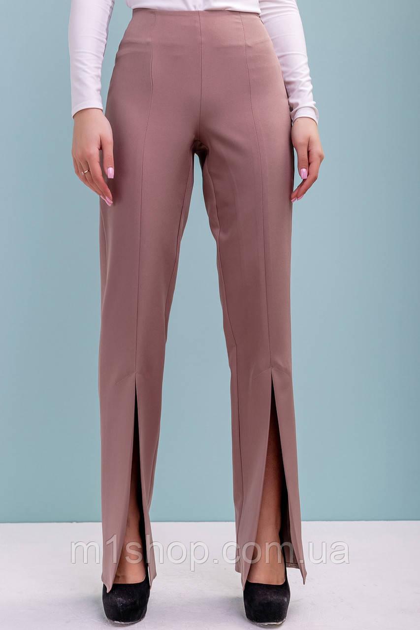 Женские высокие брюки с разрезами по низу (3208-3209-3207 svt)