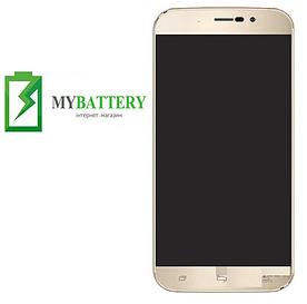Дисплей (LCD) S-TELL M555 с сенсором золотой