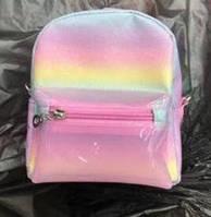 Рюкзак B6030-64 (100шт) 18-14-8см, радуга, 1отд, застежка-молния, 1наруж.карман,в кульке