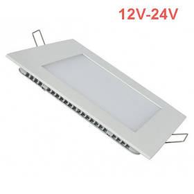Потолочный встраиваемый светильник 12W 12-24V 4000K квадратный Код.59472