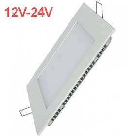Светодиодный встраиваемый светильник 18W 12-24V 3000K квадратный Код.59480