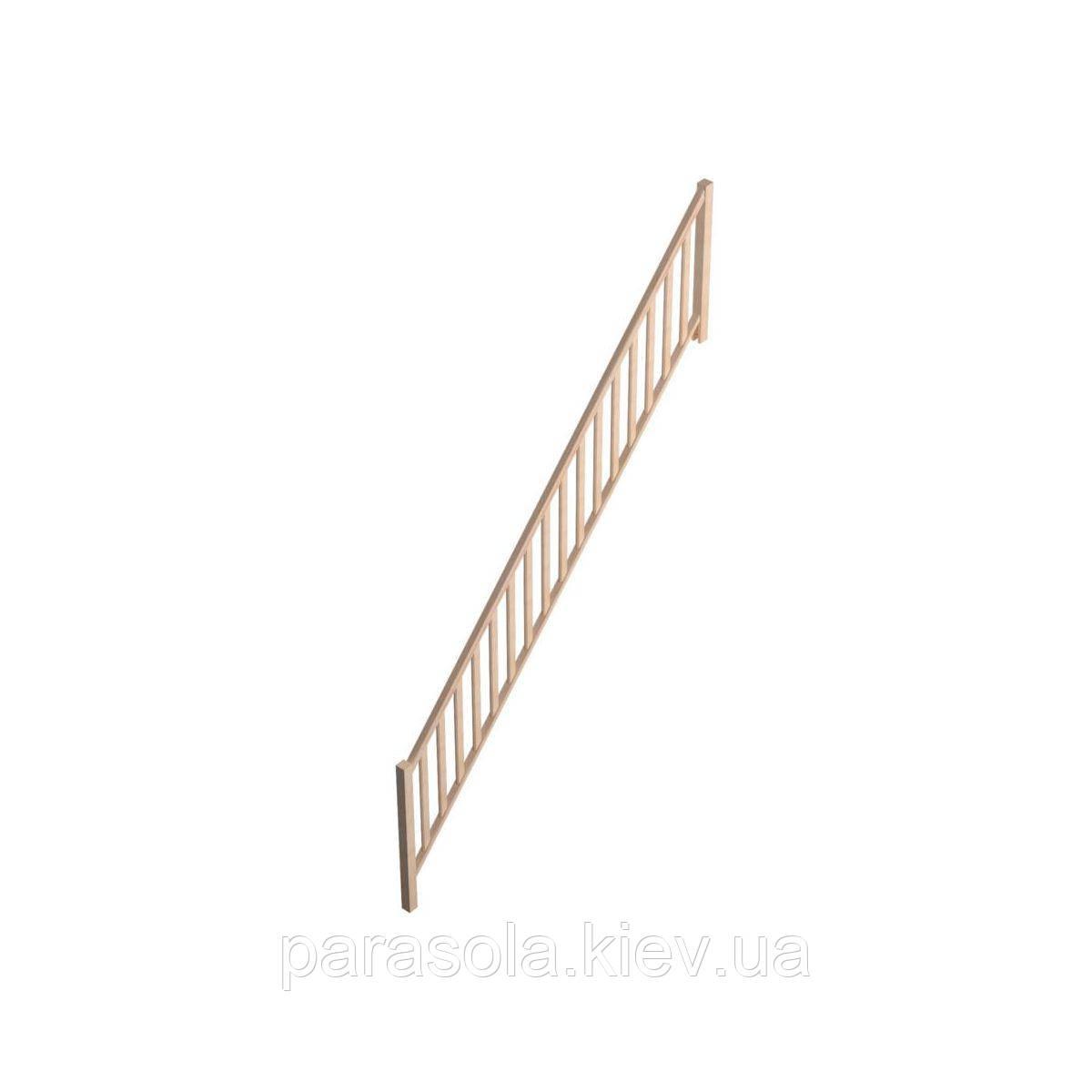 Балюстрада А Savoie деревянная для прямой лестницы