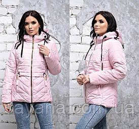 Женская весенняя куртка с декором в расцветках, р-р 48-54. ДР-2-1-0219