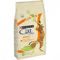 Cat Chow Adult корм для кошек с курицей и индейкой, 15 кг