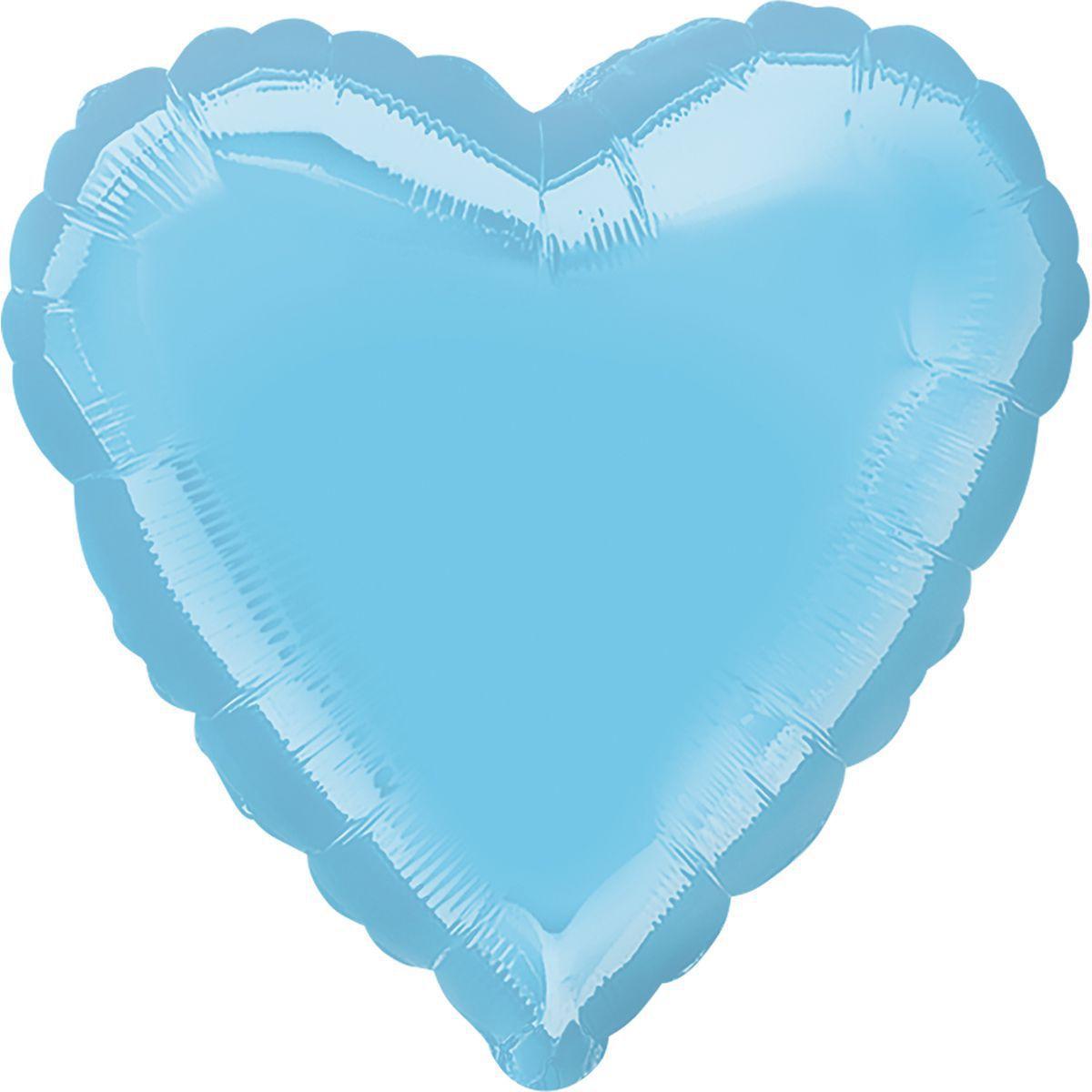 """Фольгированный шар Anagram Сердце 18"""" (46 см) пастель голубая жемчужина"""