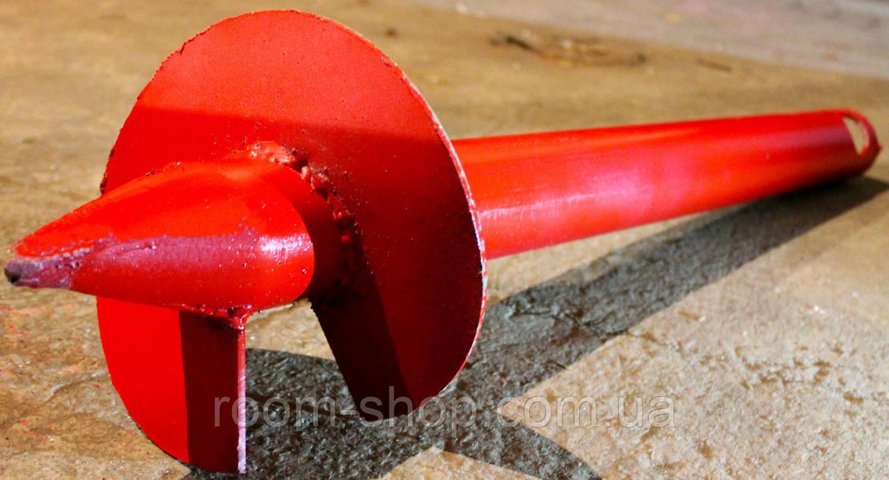 Широколопастные сваи (гвинтові палі) диаметром 57 мм., длиною 3 метра