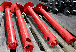 Широколопатні палі (гвинтові палі) діаметром 57 мм, довжиною 3 метри, фото 2