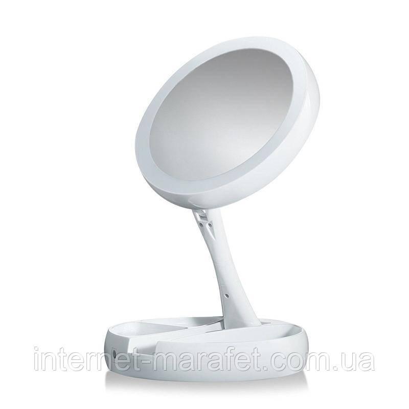 Зеркало для макияжа раскладное с подсветкой