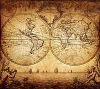 """Фотообои на стену """"Старинная карта мира"""""""