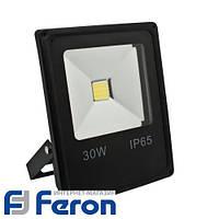 Светодиодный прожектор Feron LL-838 1LED 30W чёрный 6400K 230V (225*125*50mm)  IP65