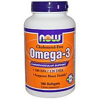 Омега 3 без холекальциферола (витамина Д3) Now Foods 250 капсул
