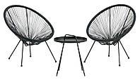 Комплект садовой мебели (лаунж кресла + круглый столик), фото 1