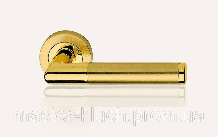 Дверные ручки Linea Cali Karina латунь/мат. латунь