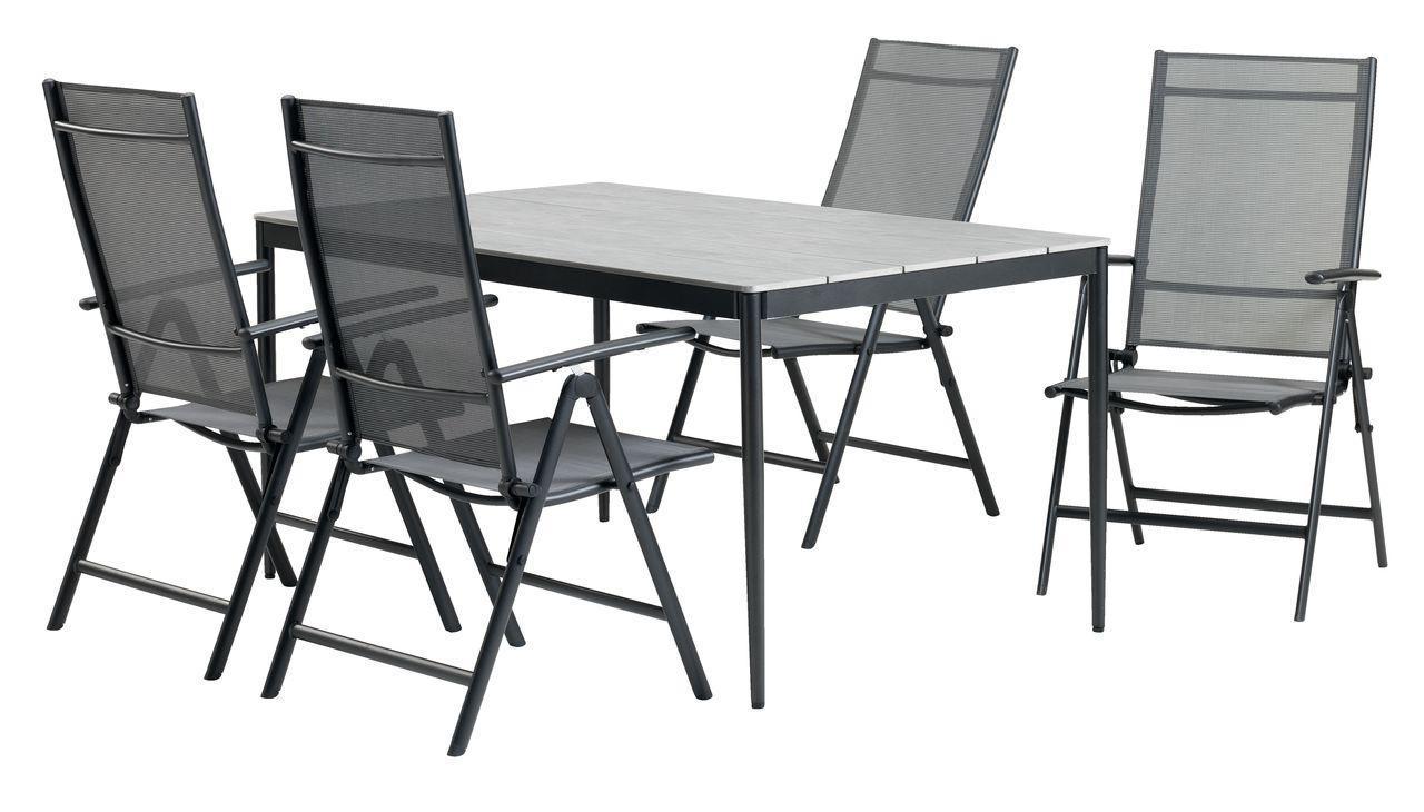 Комплект садовой мебели (4 кресла + стол 150 см),  Не требует ухода, фото 1