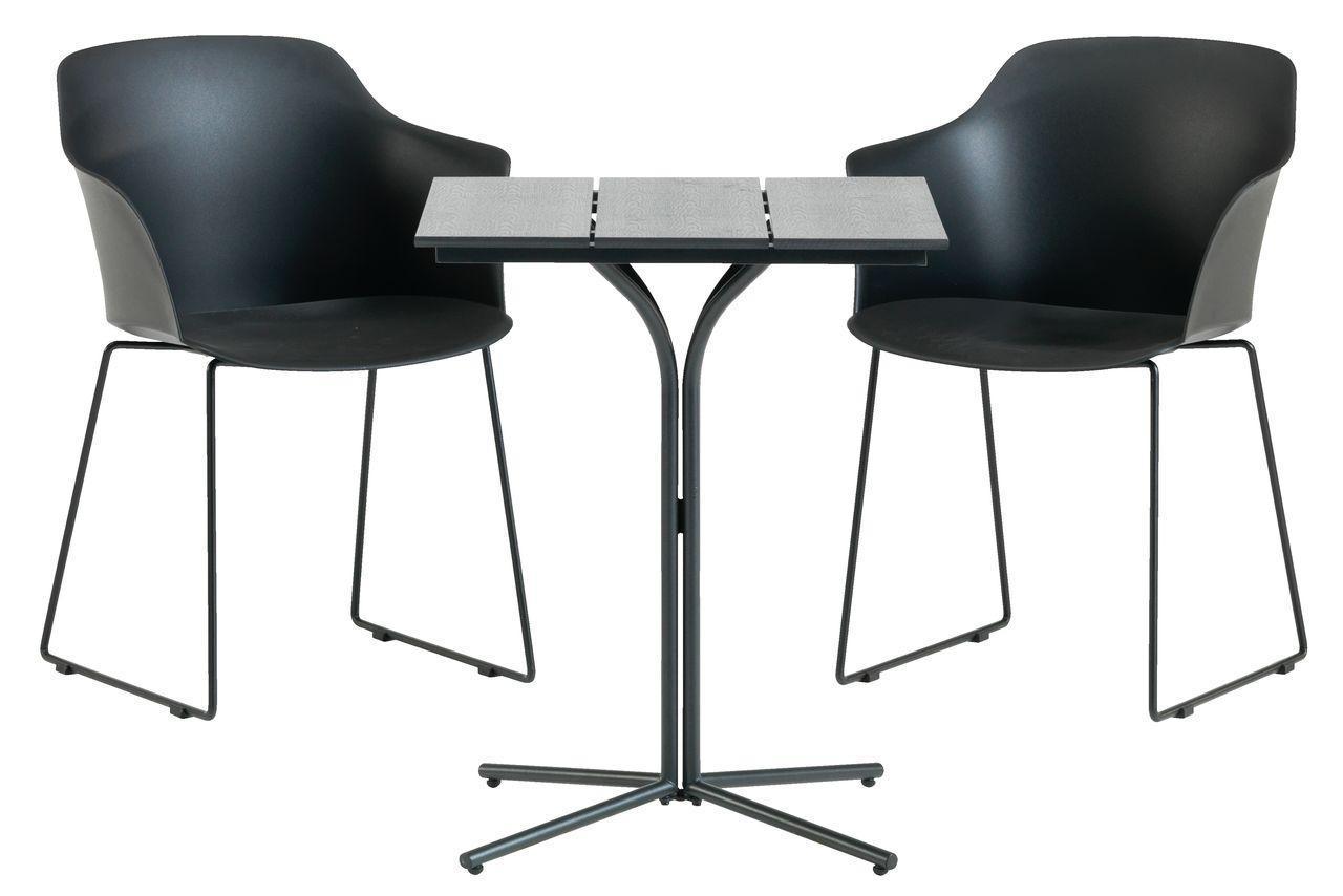Садовый комплект мебели (2 стула + столик квадратный на ножке ), фото 1