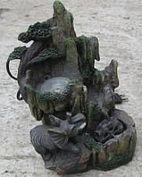 Фонтан садовый настольный Слоник хобот вверх