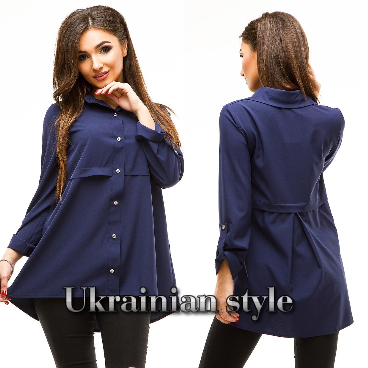 285b98faf75 Женская однотонная туника-рубашка с длинным рукавом. Много цветов!