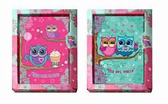 Блокнот детский А-6 KIDIS THE OWL WORLD с глиттером, в картонной коробке 18*15*2см 6043-1305