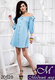 Платье рубашка лето женское (р. 42, 44, 46) арт. 20628