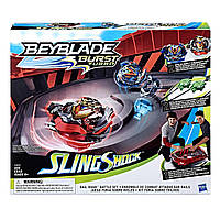 Набор волчков 4 серии с ареной BEYBLADE Burst Turbo Slingshock Rail Rush Battle Set