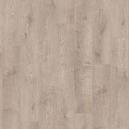 Виниловый пол для спальни Quick Step LIVYN BALANCE CLICK Plus Дуб жемчужный серо-коричневый 40133 с фаской