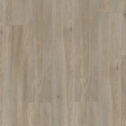 Виниловый пол для ванной Quick Step LIVYN BALANCE CLICK Plus Дуб серо-бурый шелковый 40053 под теплый пол