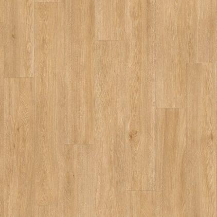 Виниловый пол для кухни Quick Step LIVYN BALANCE CLICK Plus Дуб шелковый теплый натуральный 40130 с фаской