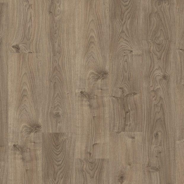 Виниловый пол для кухни, ванной Quick Step LIVYN BALANCE CLICK Дуб котедж коричнево-серый 40026 с фаской