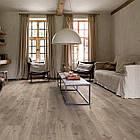 Виниловый пол для кухни, ванной Quick Step LIVYN BALANCE CLICK Дуб котедж коричнево-серый 40026 с фаской, фото 2