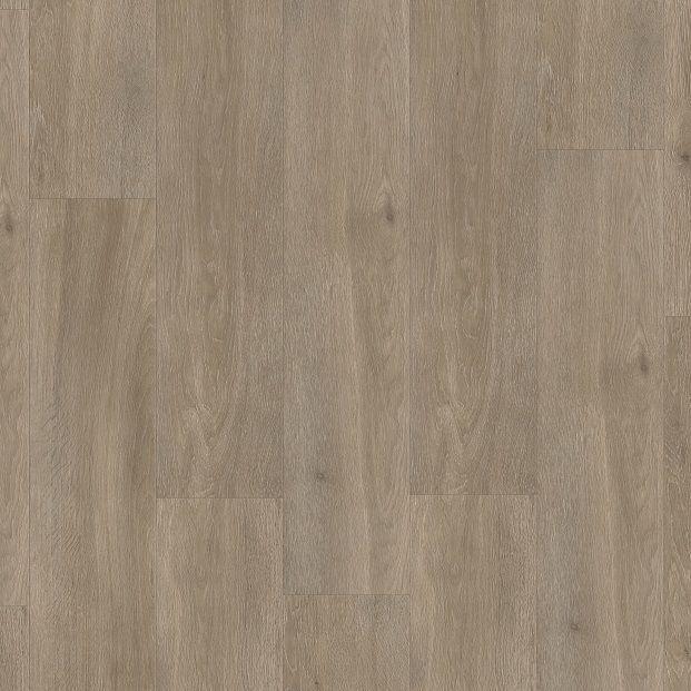 Виниловый пол для ванной, коридора Quick Step LIVYN BALANCE CLICK Дуб шелковый серо-коричнывый 40053 с фаской