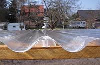 Пластиковый  армированный шифер Vonoplast  2*10 м. прозрачный волновой, фото 1