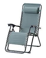 Кресло - шезлонг садовое раскладное для отдыха зеленое