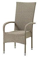 Стул -кресло садовое с высокой спинкой натура, Петан (искусственный ротанг), фото 1