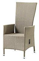 Кресло садовое плетеное с механизмом наклона спинки натура , фото 1