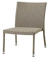 Лаунж стілець садовий плетений натура (штучний ротанг)v