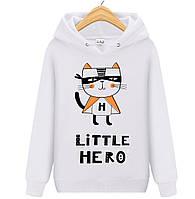 Толстовка LITTLE HERO детская белая (начес)