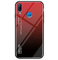 Чехол-накладка TPU+Glass Gradient HELLO для Xiaomi Redmi Note 7 Red