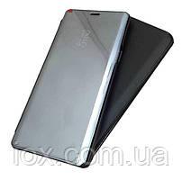 Зеркальный чехол-книжка-подставка для Huawei P Smart Plus (Nova 3i) Черный